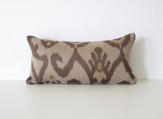 Light Brown Decorative Pillows : Decorative pillow cover 8x16 Light brown Dark brown