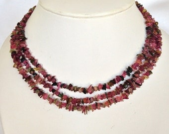 Multi-Strand Tourmaline Necklace