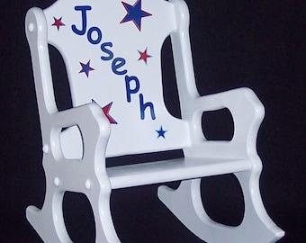 Child's Rocking Chair -stars - toddler