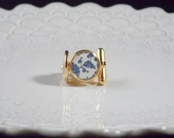 Blue Porcelain Cuff Links