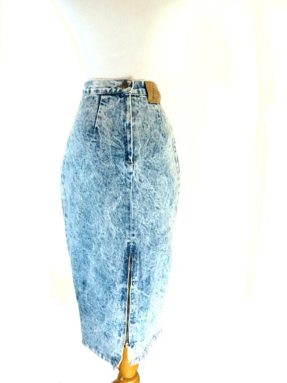 reserved vintage acid wash skirt jean skirt high