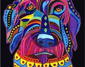 Labradoodle art dog  Art Print Poster by Heather Galler (HG556)