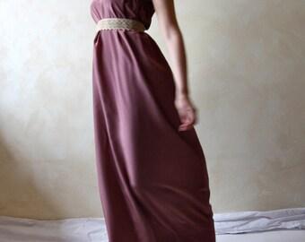 Simple wedding dress, Silk wedding dress, cheap wedding dress, strapless dress, Long dress, maxi dress, floor length dress, boho dress