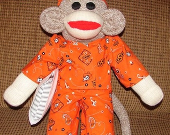 Sock Monkey, Red Heel Sock Monkey, Oklahoma State Sock Monkey, OSU Monkey