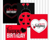 Ladybug Party PRINTABLE 5x7 Signs (INSTANT DOWNLOAD) by Love The Day