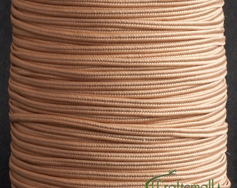 Soutache braid - Polyester flat 2.5mm soutache cord - deep beige (ST1390) - 3 meters