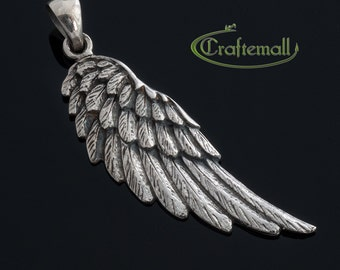 1 Sterling Silver Wing Pendant - ctagp010