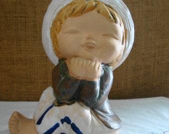 1960s VINTAGE CERAMIC Cute Kid Ceramic Figurine 1960s JAPAN Sailor Boy Mid Modern Japan Figurine
