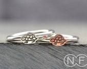 Tortoise Stacking Ring in Silver or Copper