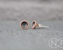 Small Copper Stud Earrings