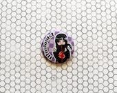 Uchiha Itachi Naruto ninja anime pinback button/magnet