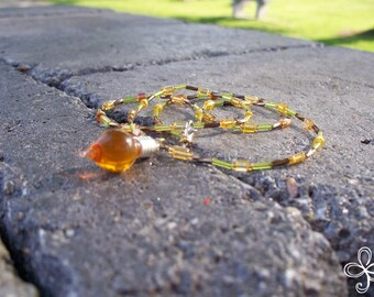 Bee Sweet Honey Necklace 1-V (beaded)