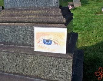 The Eye Watercolor Painting PRINT