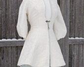 Cream White Fairy Tale Steampunk Riding Jacket