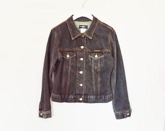 90's Stone Wash Denim Jacket size  - M