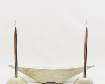 Atomic Shawnee Pottery Centerpiece Set