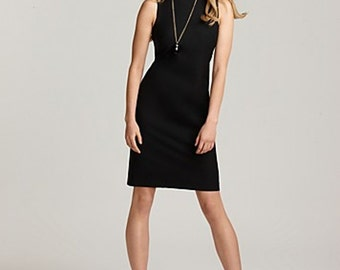 Black Sheath dress, no sleeves, office dress, Custom Order in sizes 2-16 or your measurements ,many colors