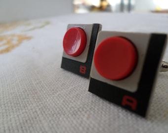 Nintendo NES A+B Button Cufflinks