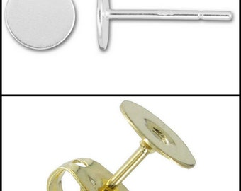 Gold Plated or Sterling Silver Post Earring Upgrade