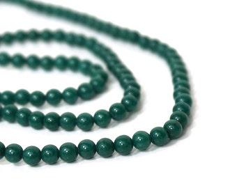 Candy Jade, Mountain Jade, 4mm Round Green, Full Strand, 880S