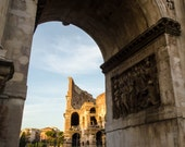 Rome 12 - Colosseum seen through Constantine Arch - Travel Photography - Wall Décor