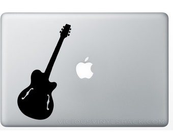 Acoustic Guitar Vinyl Decal Stickers (Multiple Colors Available) Electric Musician