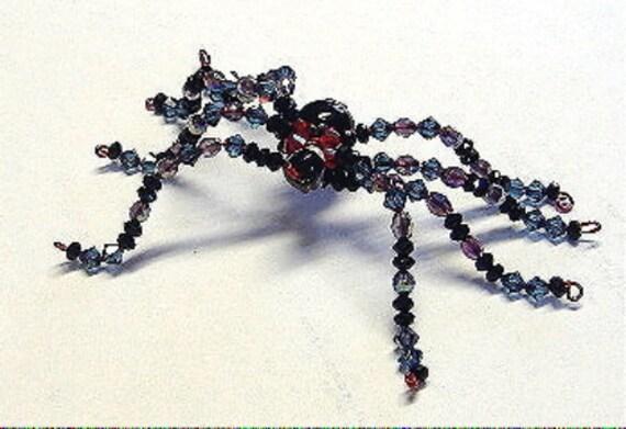 Swarovski Crystal BLACK WIDOW SPIDER female Arachnid