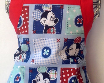 Kids Apron Mickey Mouse Patchwork
