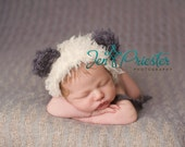 Panda bear hat... baby bear hat..knit hat....Photography Prop.... photo prop..Newborn photo prop....20% off with code VALEN1 at checkout