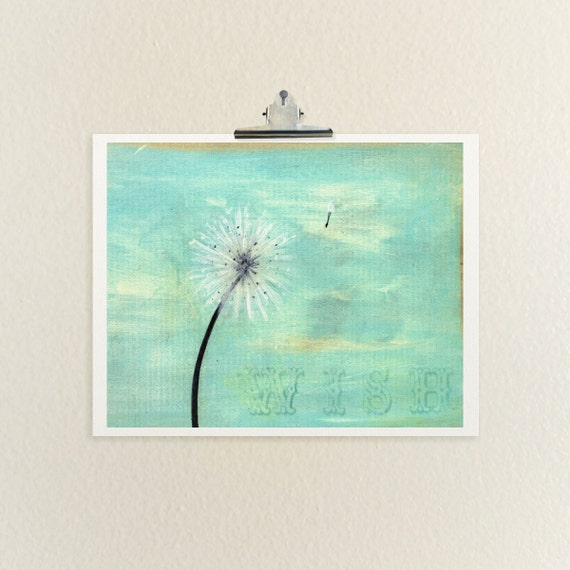 Home Decor Wall Art Affordable Fine Art Print // Wish// Fine Art Reproduction Giclee Print