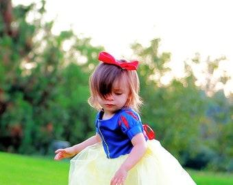 Snow White Tutu Dress with satin bodice - Snow White Dress - Snow White Costume - Girls Sizes 6 months to 8 yrs