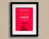 Wash Your Hands Washroom Bathroom Lavatory Loo Toilet Sign for Kids and Adults Keep Clean