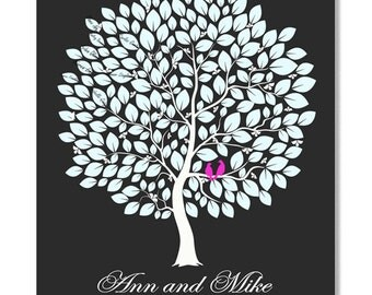Wedding Guestbook Tree-wedding tree--  To Be Personalized With Guest's Signatures - 20x25,20x30 - 250 Signature Wedding Guest Book tree
