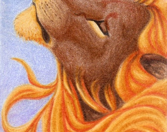 ACEO - Lion - Open ed. print