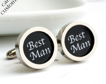 Best Man Cufflinks Classic Wedding Cufflinks PC191