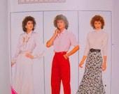 Womens Plus Size Skirt & Slacks Pattern, Butterick 4038, Tailoring Supplies, Un Cut, Size 18 thru 22