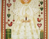 Advent Calendar Angel Christmas children quilted
