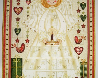 Advent Calendar Angel Christmas children quilted