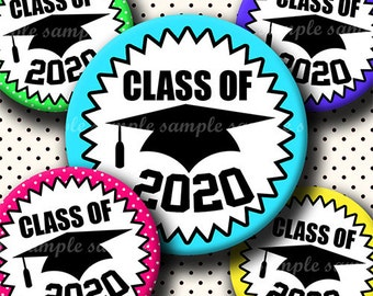 INSTANT DOWNLOAD Class Of 2020 (638) 4x6 Bottle Cap Images Digital Collage Sheet for bottlecaps glass tiles hair bows .. bottlecap images