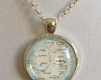 Irish Map Pendant Necklace