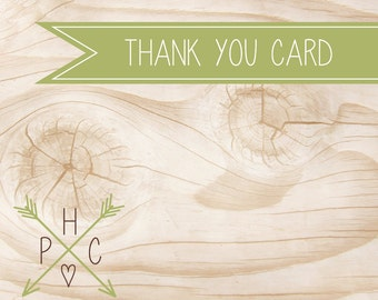 ADD ON >>> Thank You Card <<< Coordinating Printable Thank You Card to an Existing Invitation >>> DIY <<<