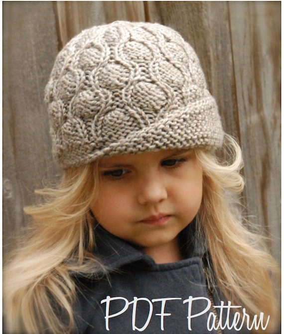 Knitting Pattern Cloche Hat : Knitting PATTERN-The Harmony Cloche Toddler Child