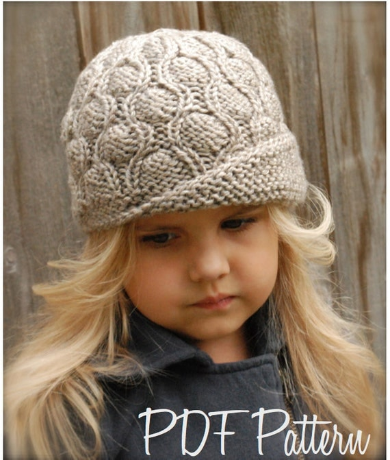 Knitting PATTERN-The Harmony Cloche Toddler Child