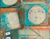 New Streets, mixed-media/acrylic on canvas, map art