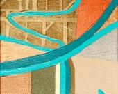 Dream Farm, mixed-media/acrylic on canvas, map art