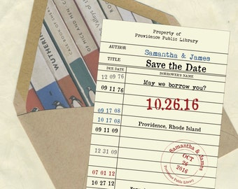 Library Card 2 Save the Date