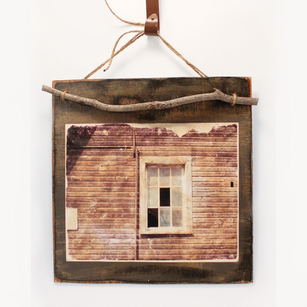 Wood Barn Plaque Rustic Barn Window Rustic Wall Art Vintage