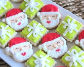 3 Dozen Mini Santa and Gifts Cookie Nibbles