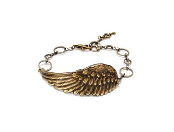 Steampunk Jewelry, Wing Bracelet, Steam Punk Wings, Angel Wing Bracelet, SteamPunk Jewelry, Steam Punk Jewelry By Victorian Curiosities