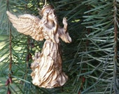 Vintage Renaissance to Baroque Style Angel Christmas Ornament